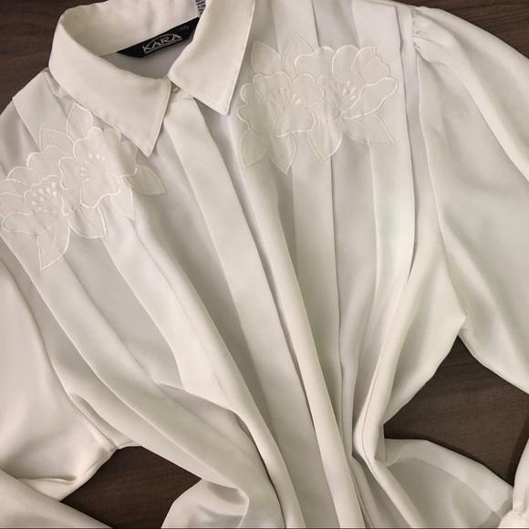Vintage Tops - Vintage Floral Button Down Shirt